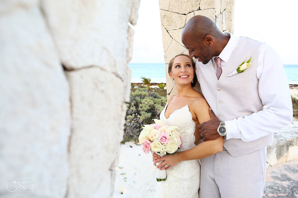 Bride and groom Secrets Maroma Beach Riviera Cancun