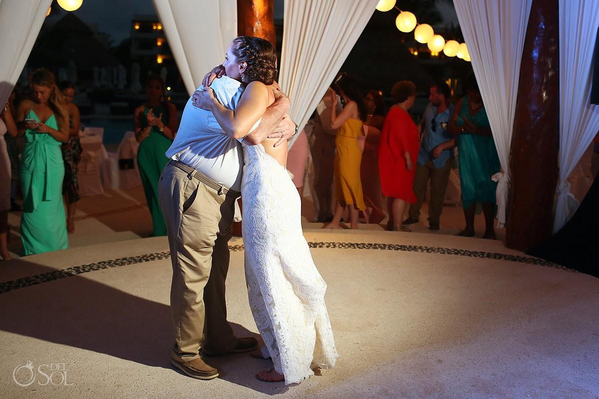 father and daughter Dance wedding reception Secrets Maroma Beach Riviera Cancun
