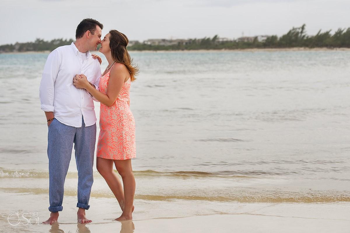 Paradisus Playa del Carmen Wedding Proposal surprise engagement beach portrait session