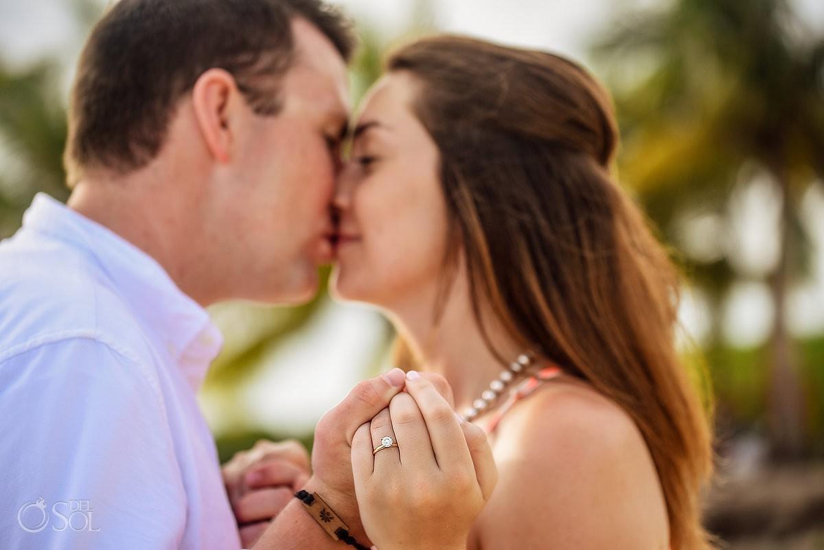 Paradisus Playa del Carmen Wedding Proposal just engaged she said yes