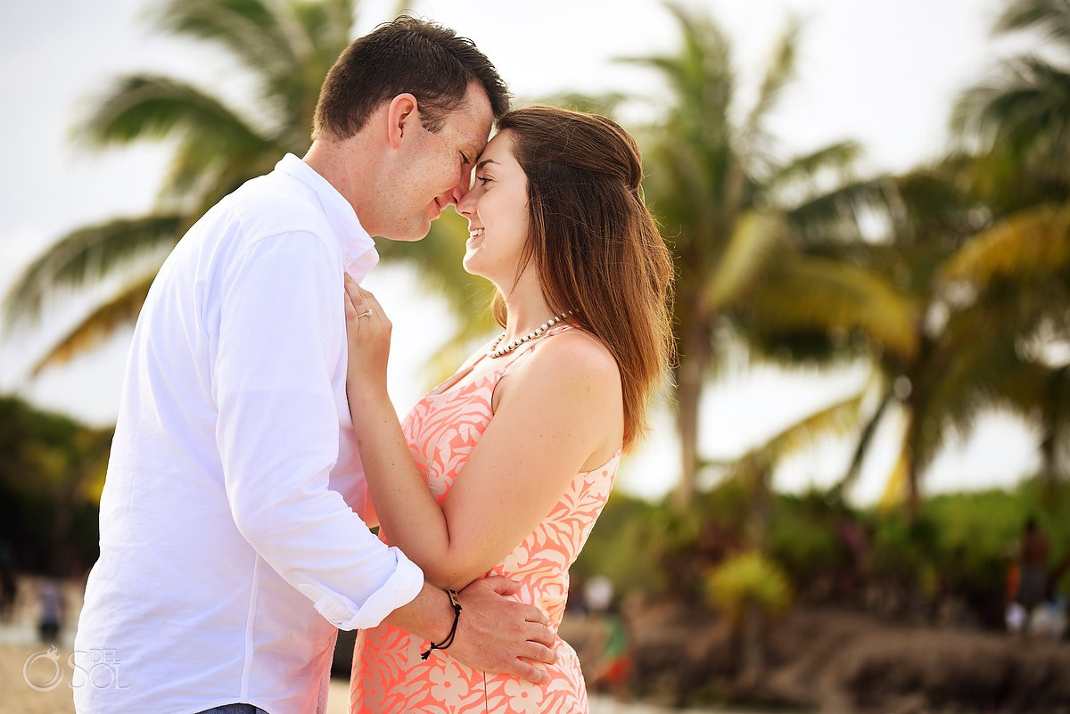 sweet love couple Surprise Proposal Engagement Paradisus Playa del Carmen La Esmeralda