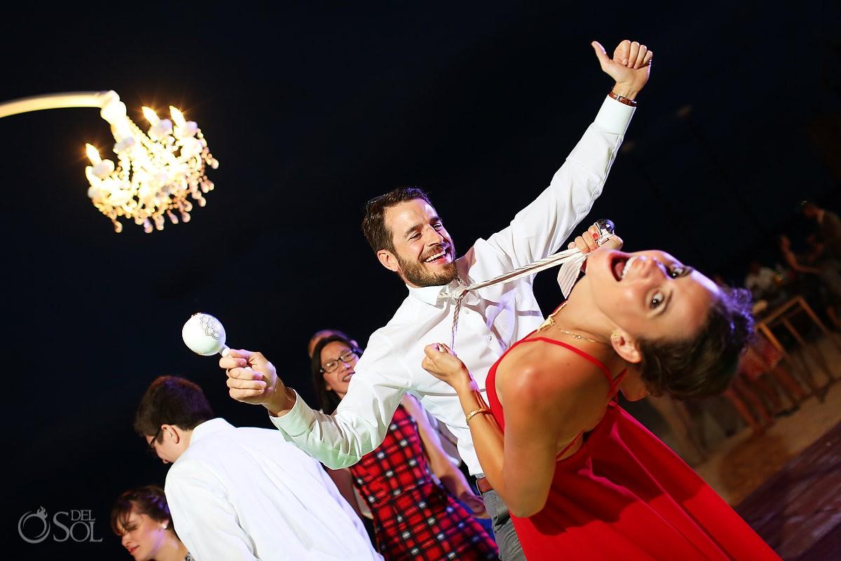 crazy dancing destination wedding reception Grand Hyatt Playa del Carmen Mexico