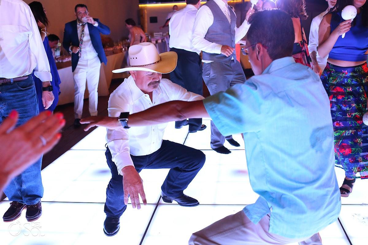 dance floor fun destination wedding reception Grand Hyatt Playa del Carmen Mexico