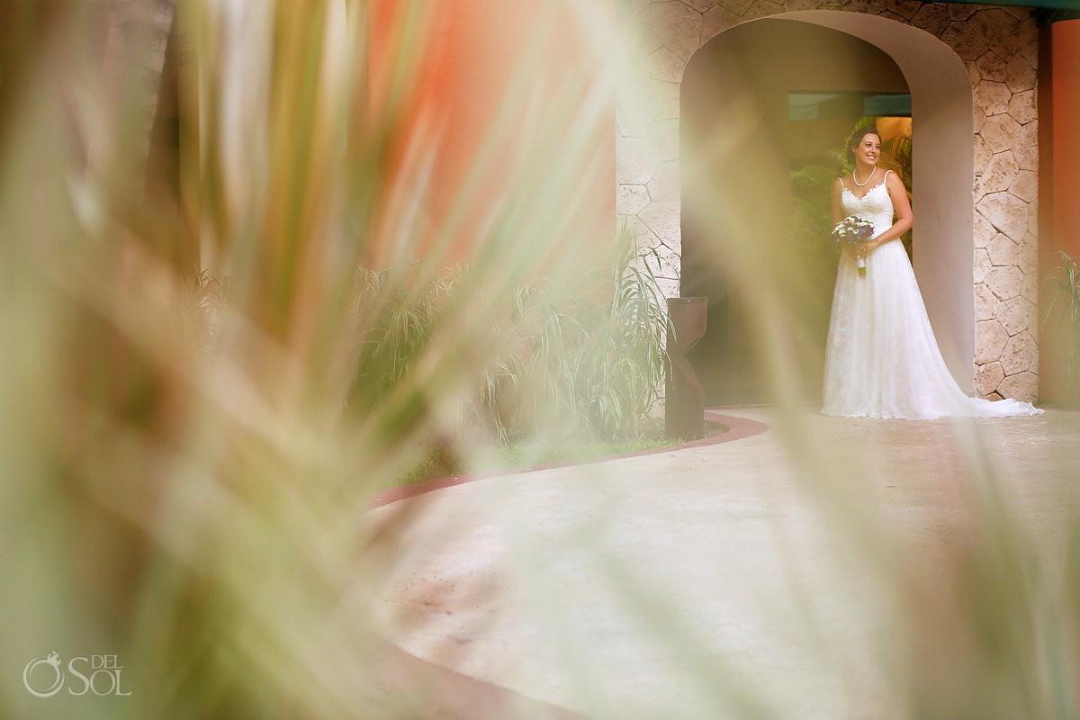 Bride portrait Barceló Maya Palace Riviera Maya Mexico