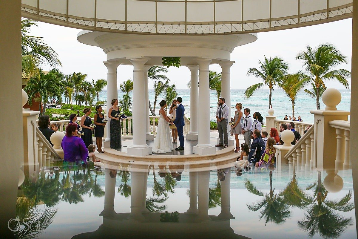 creative reflection Barceló Maya Palace Riviera Maya gazebo wedding Mexico