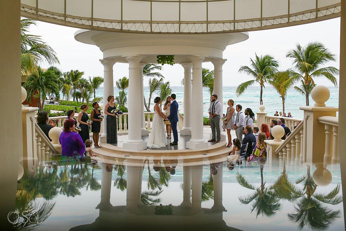 creative reflection Barceló Maya Palace Riviera Maya gazebo wedding Mexico