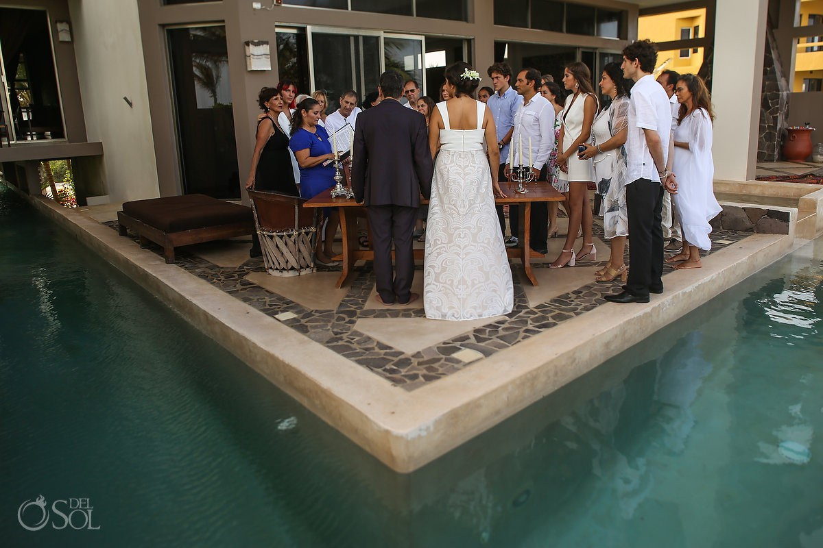 Wedding ceremony Akumal Punta Sur Riviera Maya Mexico