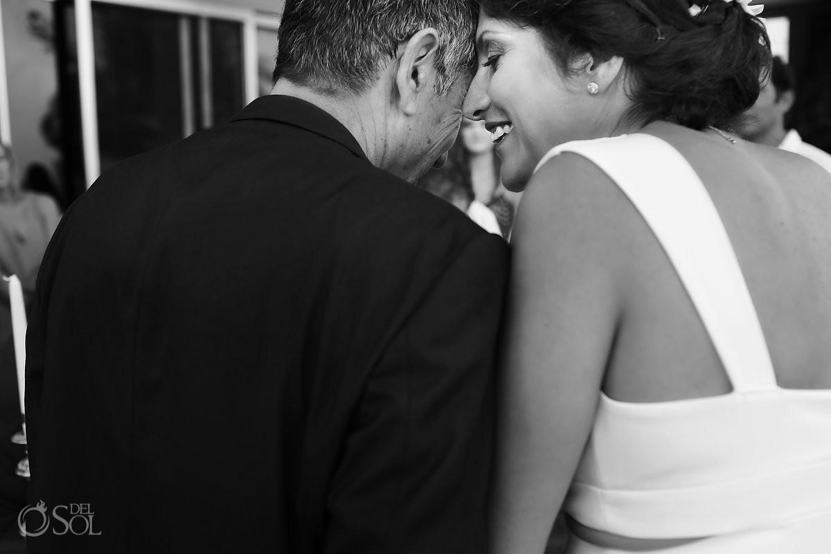 wedding ceremony bride and moments Akumal Punta Sur Riviera Maya Mexico