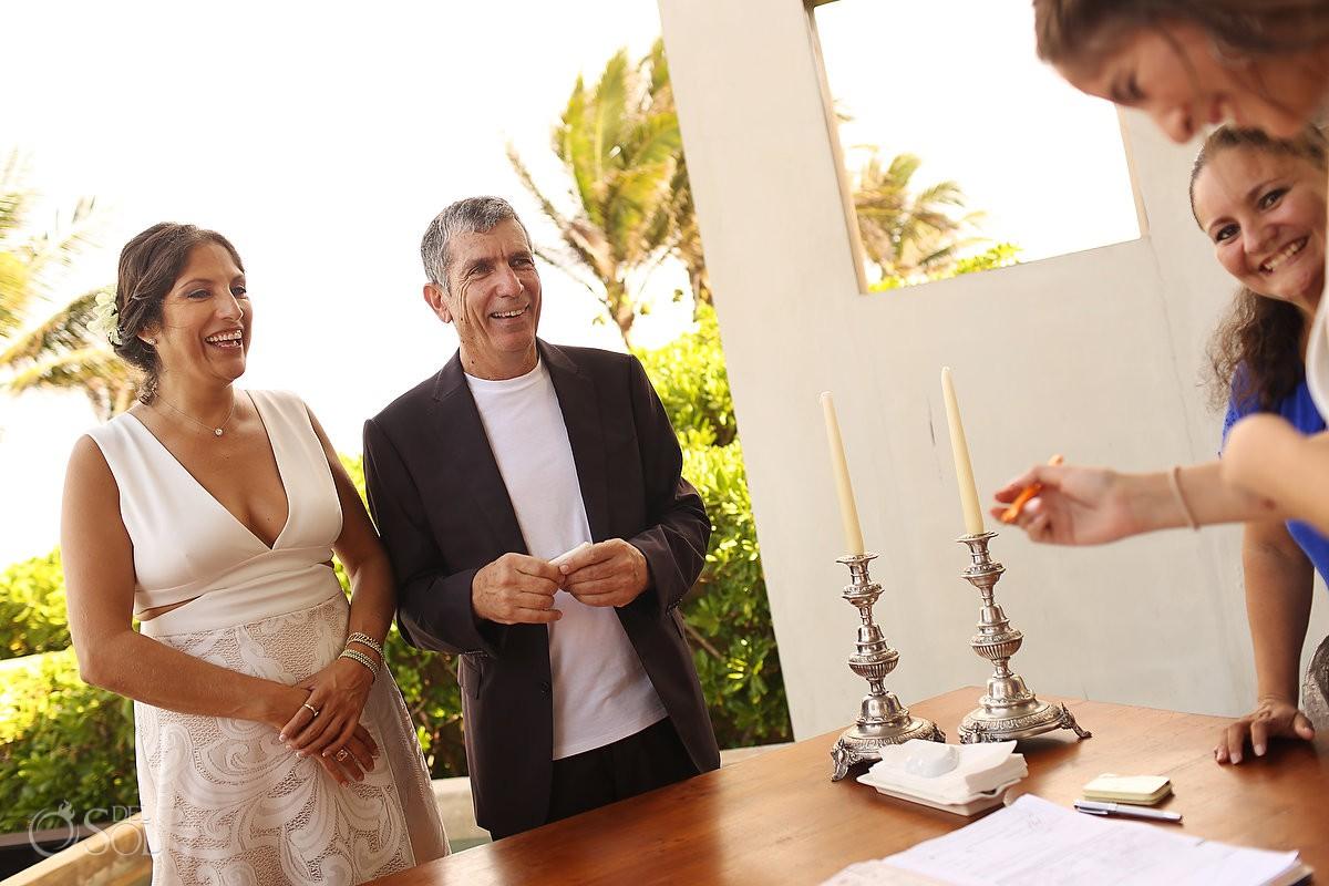Destination Wedding ceremony Akumal Punta Sur Riviera Maya Mexico