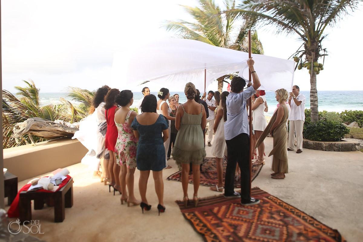 best destination to get married beach ceremony Akumal Punta Sur Riviera Maya Mexico