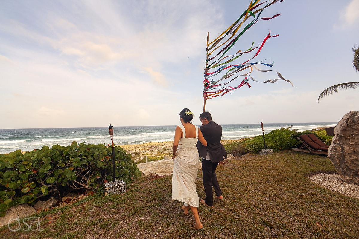 alternative Unity ceremony ideas - Ribbon - riviera maya akumal mexico