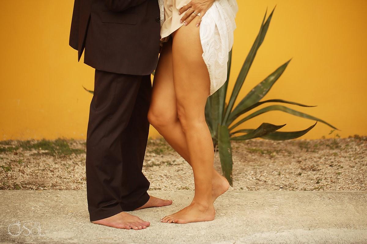 Bride and groom wedding details Akumal Punta Sur Riviera Maya Mexico