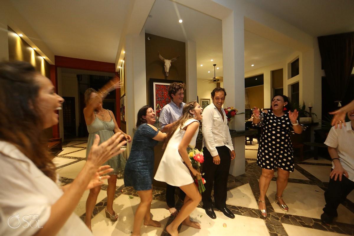 Party guest moments Akumal Punta Sur Riviera Maya, Mexico