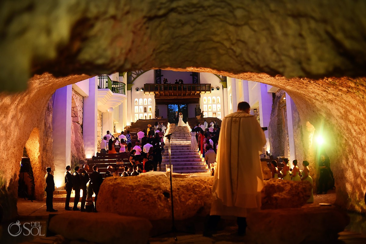 Best church for get married Xcaret Park Playa del Carmen Mexico.