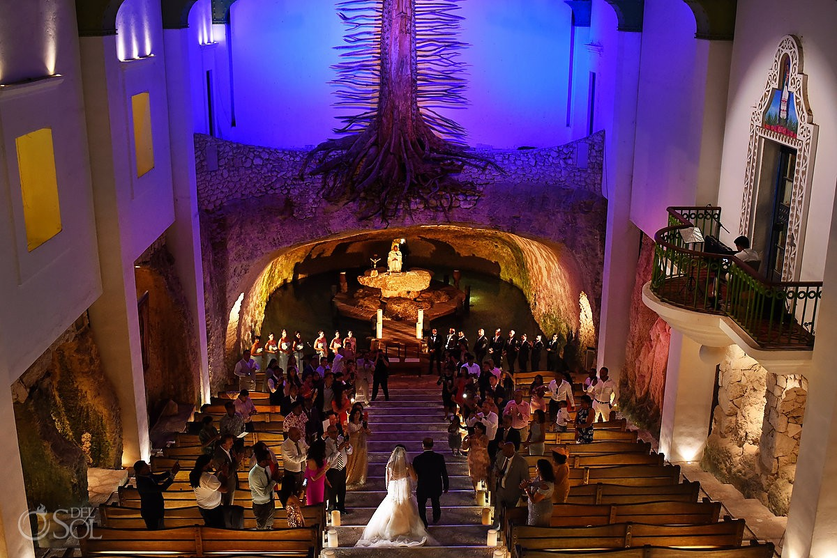 La Capilla de Guadalupe at Xcaret Park destination wedding