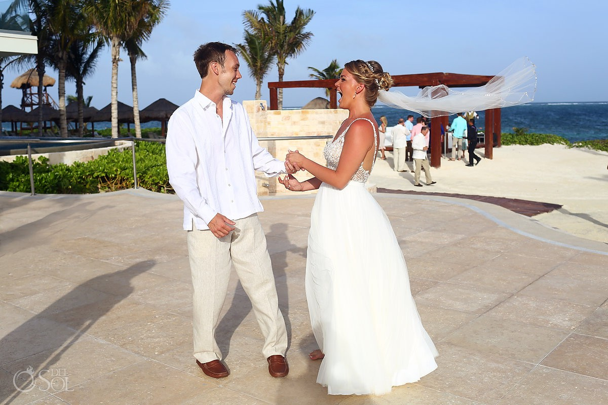 first look Breathless Riviera Cancun Wedding Mexico