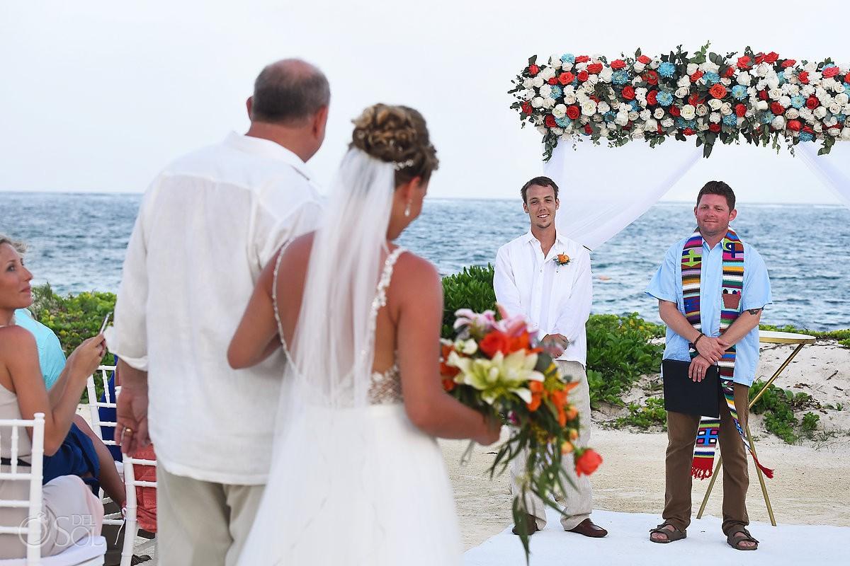 bride entrance Breathless Riviera Cancun Wedding Mexico