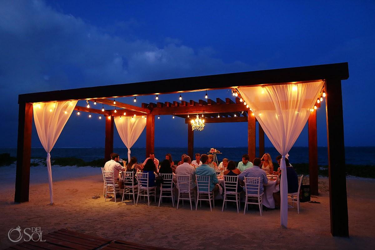 destination wedding reception Breathless Riviera Cancun Wedding Mexico