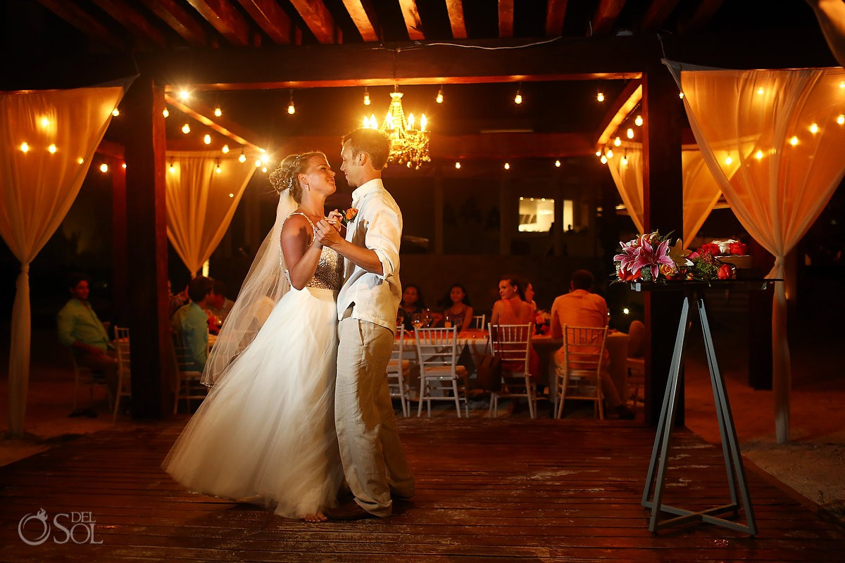 first dance Breathless Riviera Cancun Wedding Mexico