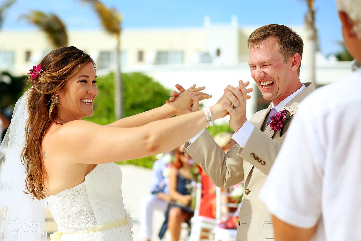 ceremony celebration Dreams Tulum Beach Wedding