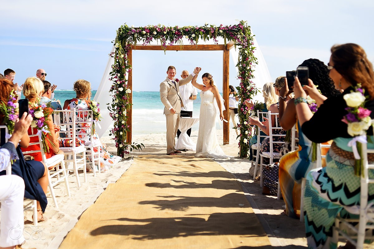 ceremony celebration Dreams Tulum Beach Wedding