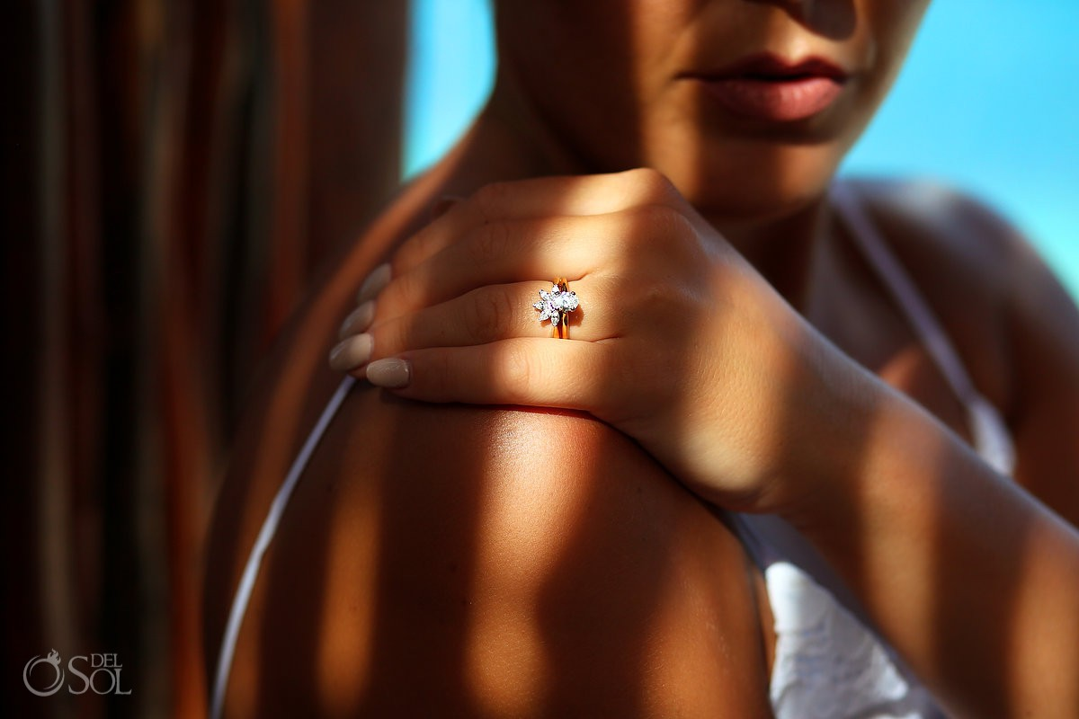 Bride wedding ring creative Now Sapphire Riviera Cancun Riviera Maya Mexico