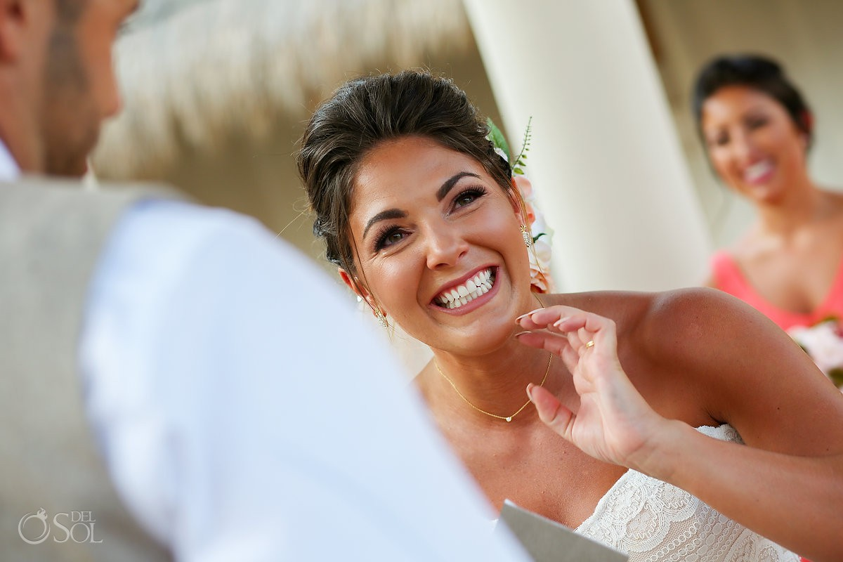 Bride emotion Wedding Now Sapphire Riviera Cancun Riviera Maya Mexico