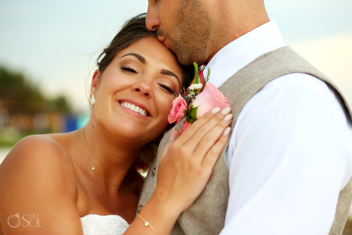 Bride and groom beautiful portrait Wedding Now Sapphire Riviera Cancun Riviera Maya Mexico