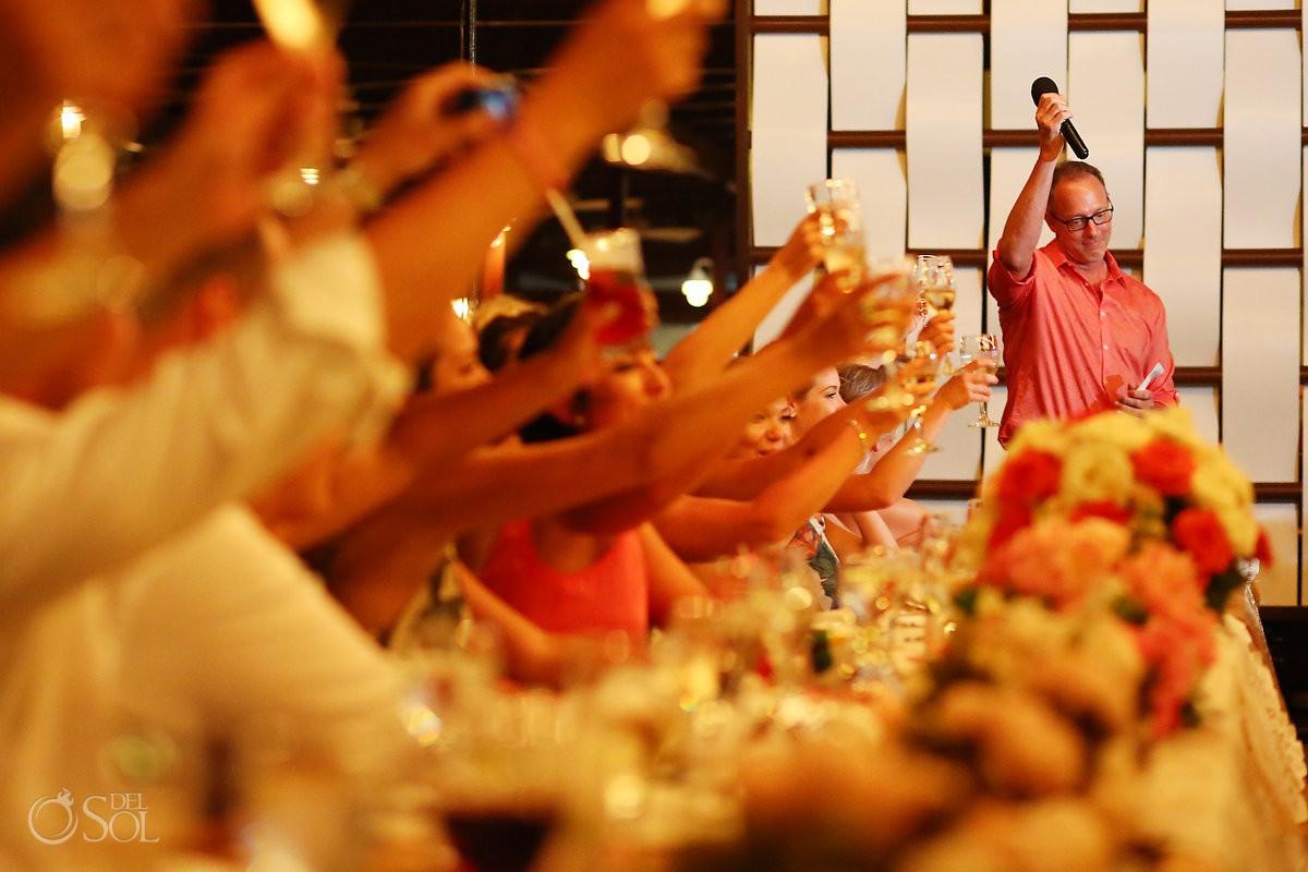 Father bride emotional speech Wedding Now Sapphire Riviera Cancun Riviera Maya Mexico