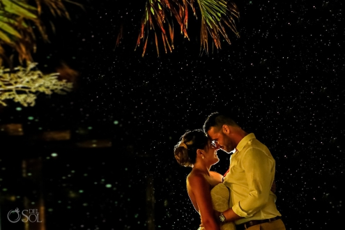 Rain wedding portrait love under the rain Wedding Now Sapphire Riviera Cancun Riviera Maya Mexico