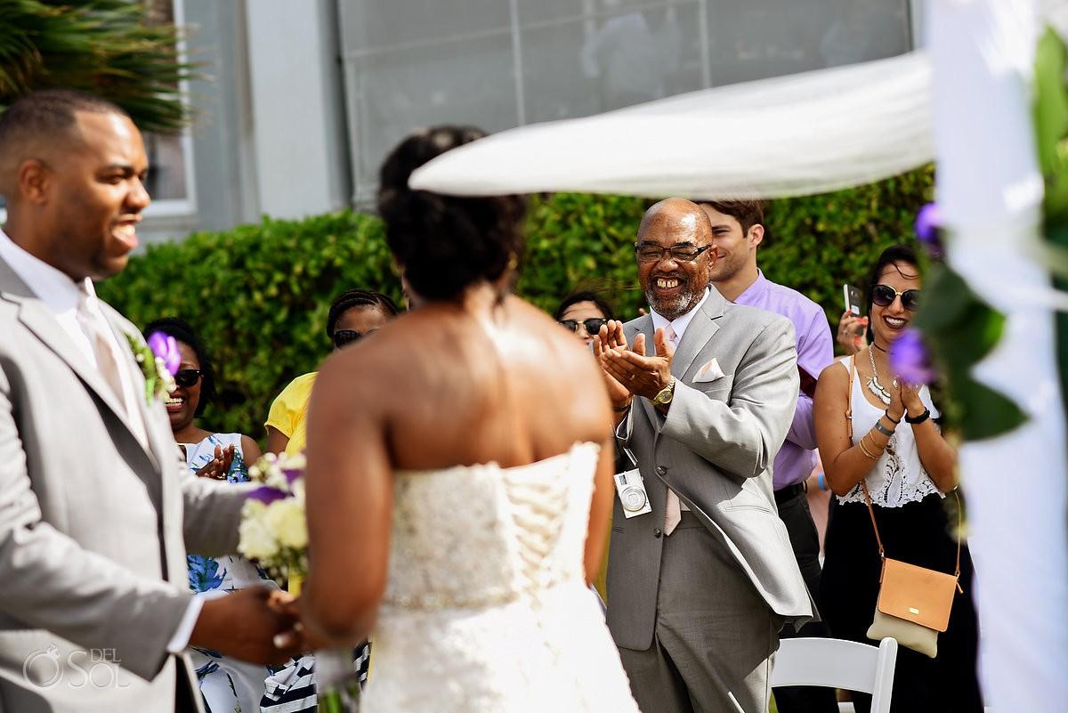 Wedding guest clapping Wedding at Riu Palace Peninsula