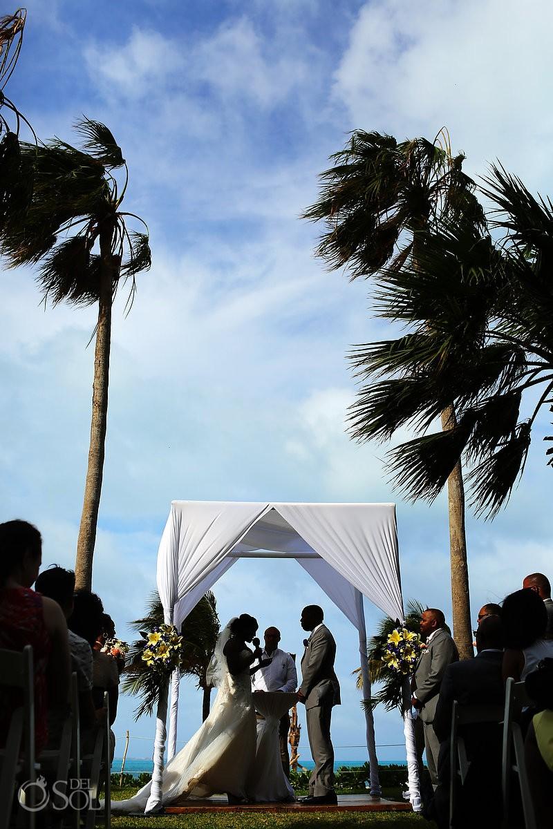 Destination Wedding Riu Palace Peninsula Garden ceremony Cancun Mexico