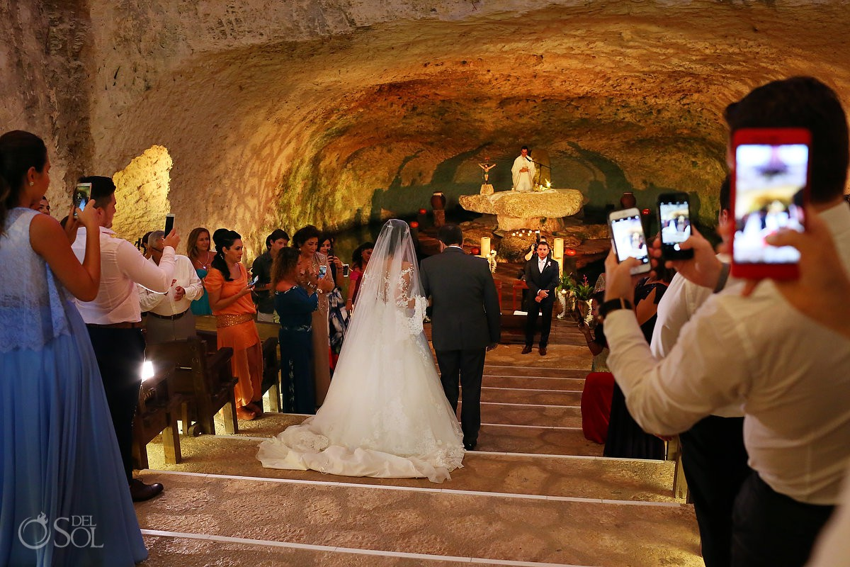 Best Destination Wedding church to get married Xcaret Riviera Maya, Mexico
