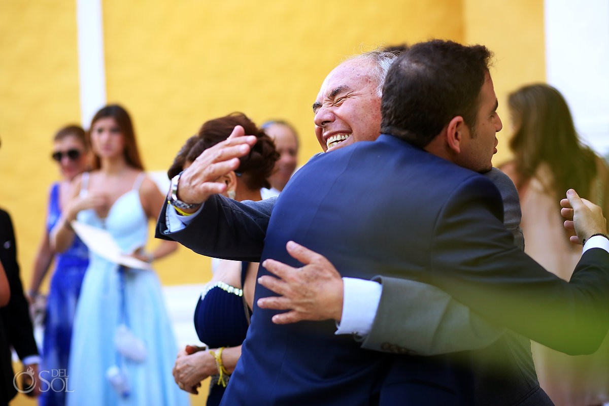 Recién casados felicitaciones de invitados Xcaret Riviera Maya, Mexico