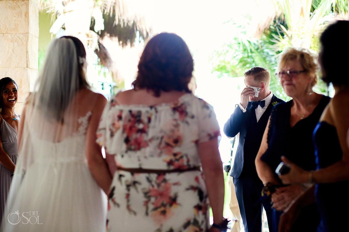 Destination Wedding Azul Beach Hotel by Karisma groom fist look, Puerto Morelos, Mexico
