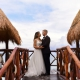 Beach love bride and groom romantic portrait Azul Beach Hotel by Karisma, Puerto Morelos, Mexico