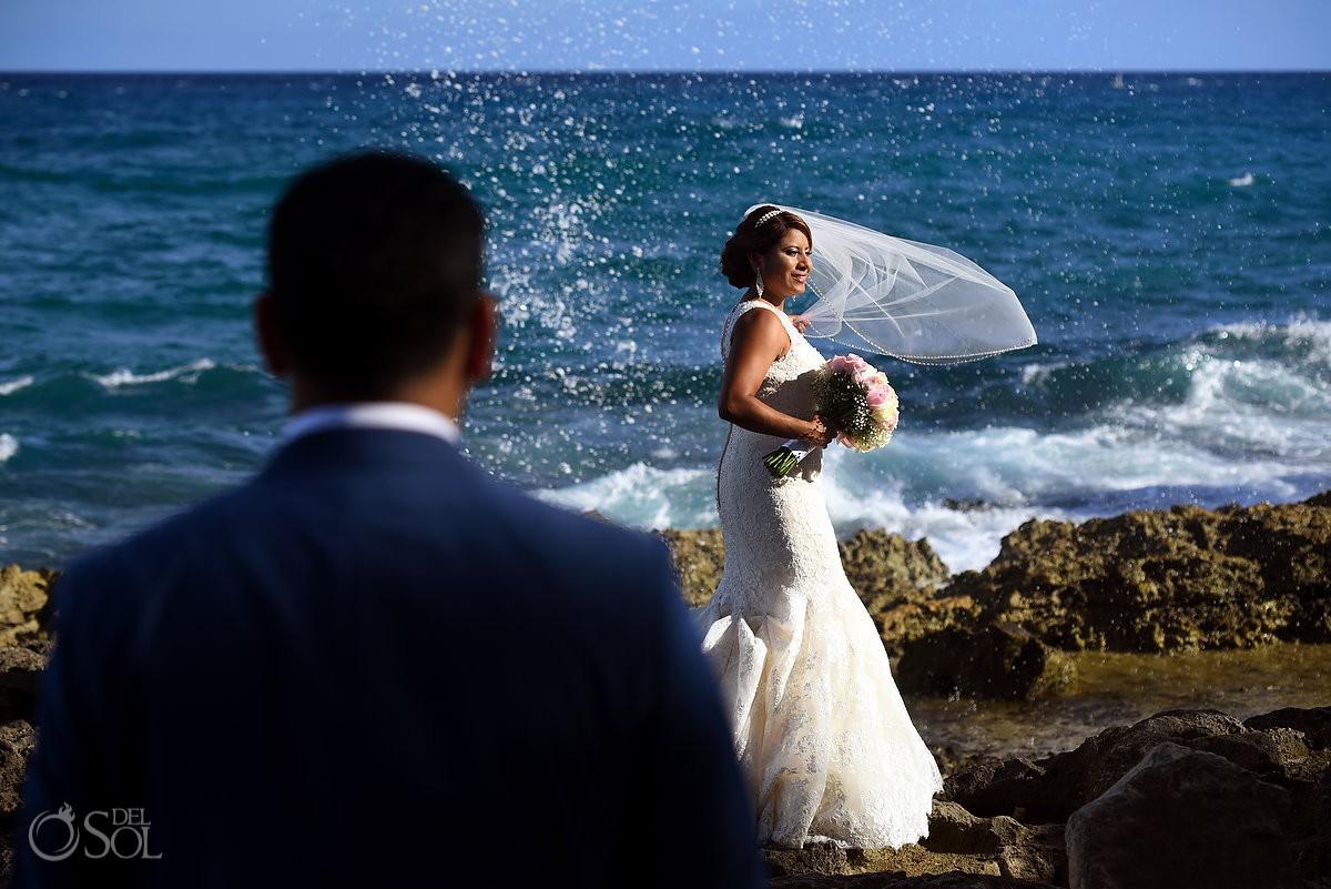 Best Destination Beach Weddings portraits Guadalupe Chapel / Xcaret Park Riviera Maya Mexico Playa del Carmen Mexico