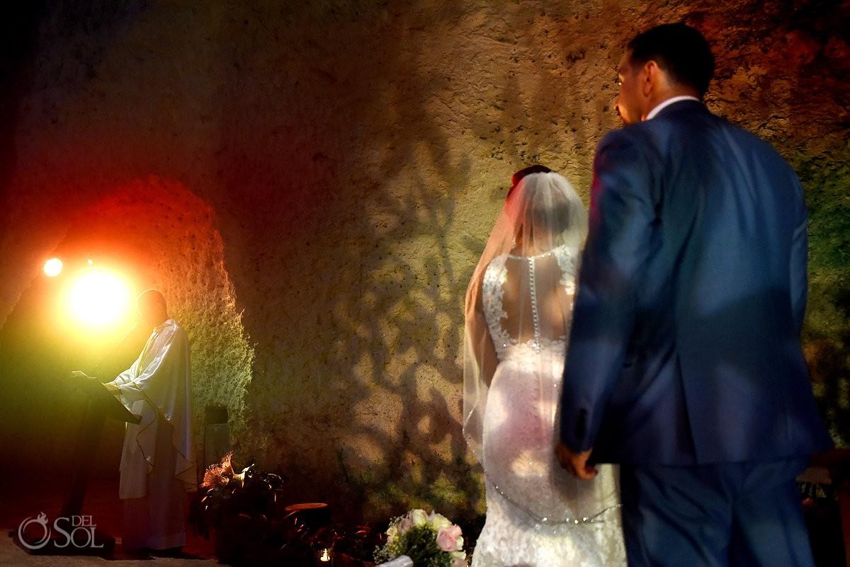 Destination Wedding Ceremony Guadalupe Chapel / Xcaret Park Riviera Maya Mexico Playa del Carmen Mexico