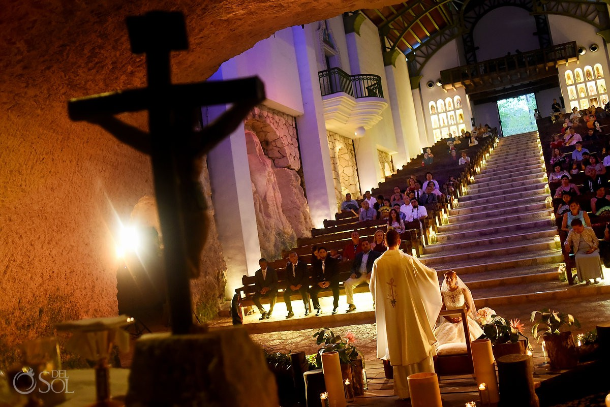 Best Destination Church Wedding Venues for getting Married Guadalupe Chapel / Xcaret Park Riviera Maya Mexico Playa del Carmen Mexico