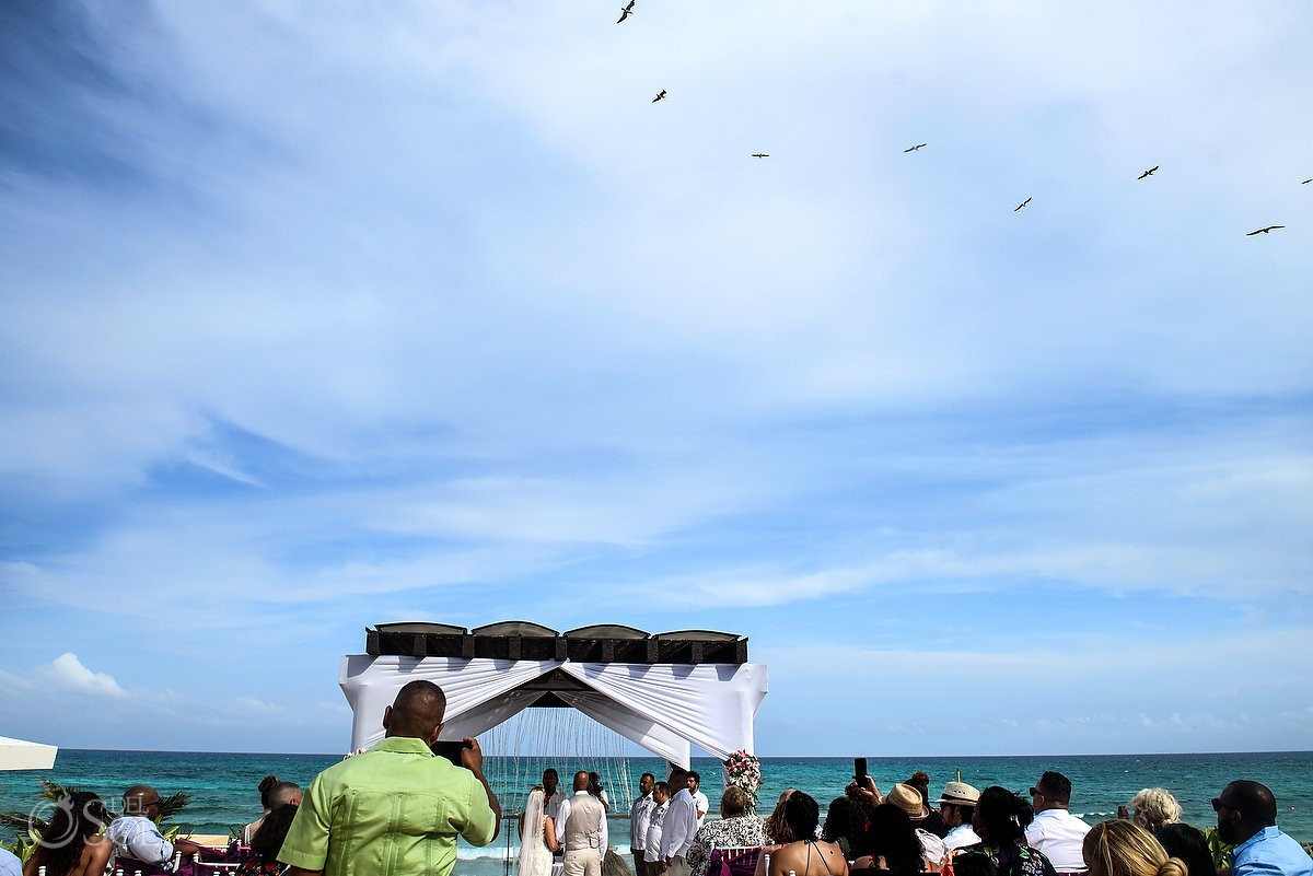 gazebo wedding ceremony Now Jade Riviera Cancun Puerto Morelos Destination wedding