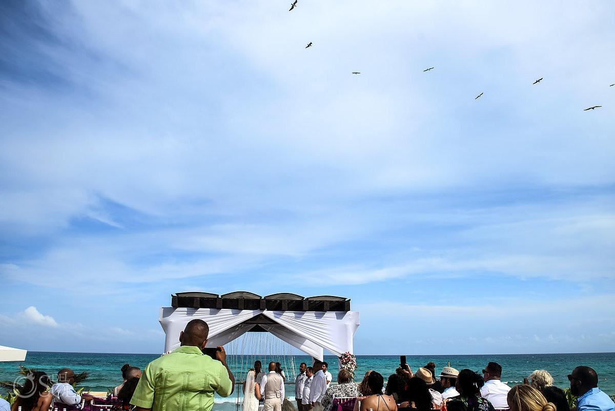 gazebo wedding ceremony Now Jade Riviera Cancun Puerto Morelos Destination wedding