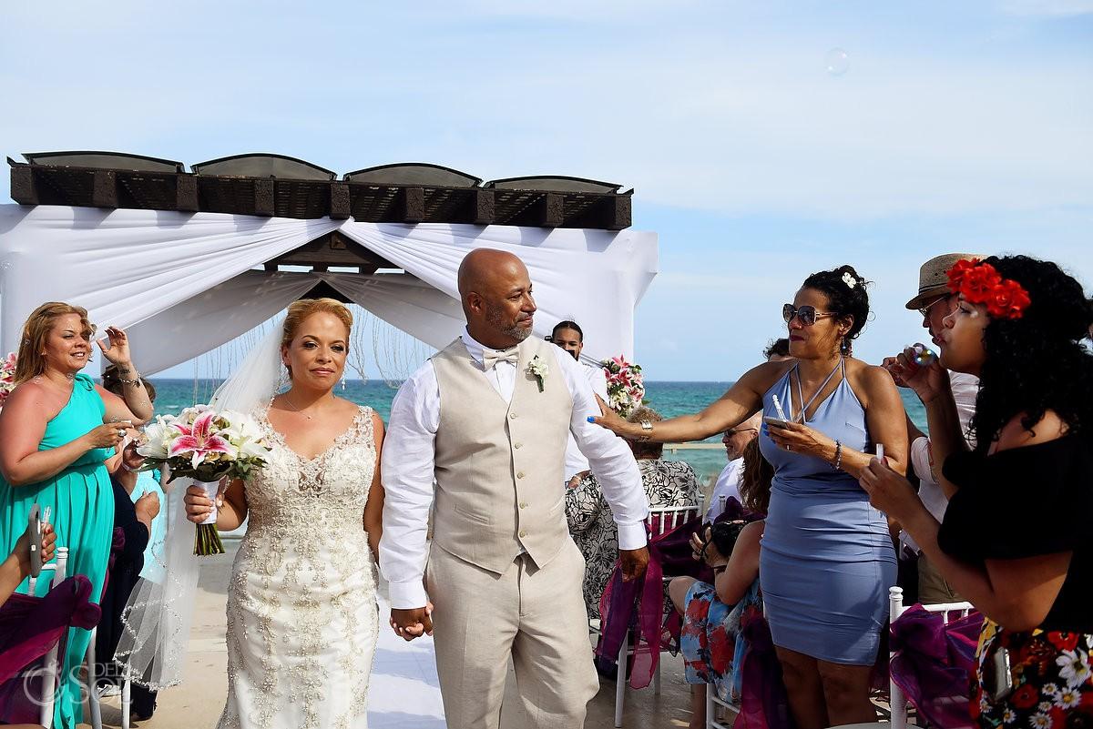 ceremony exit Now Jade Riviera Cancun Puerto Morelos Destination wedding