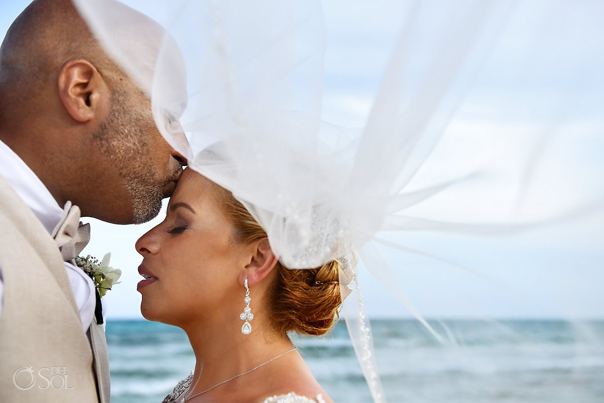 couple portrait Now Jade Riviera Cancun Puerto Morelos Destination wedding