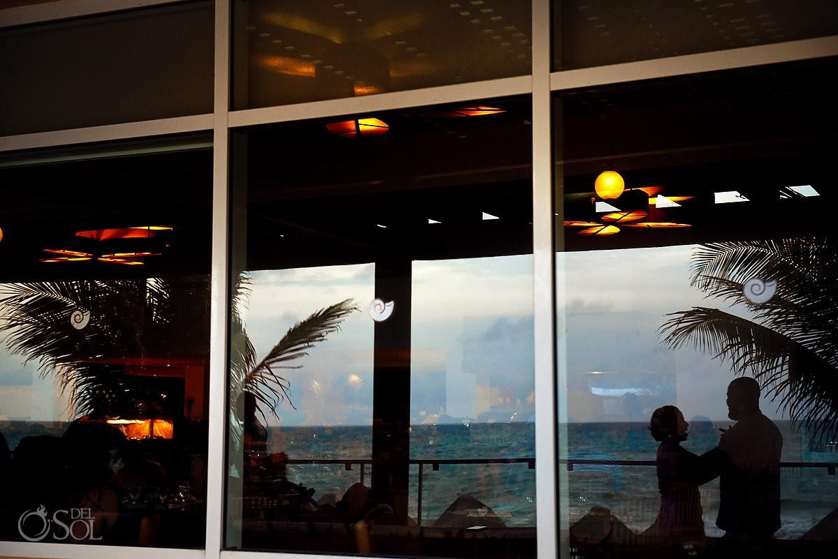 creative reflection Now Jade Riviera Cancun Puerto Morelos Destination wedding reception Mexico