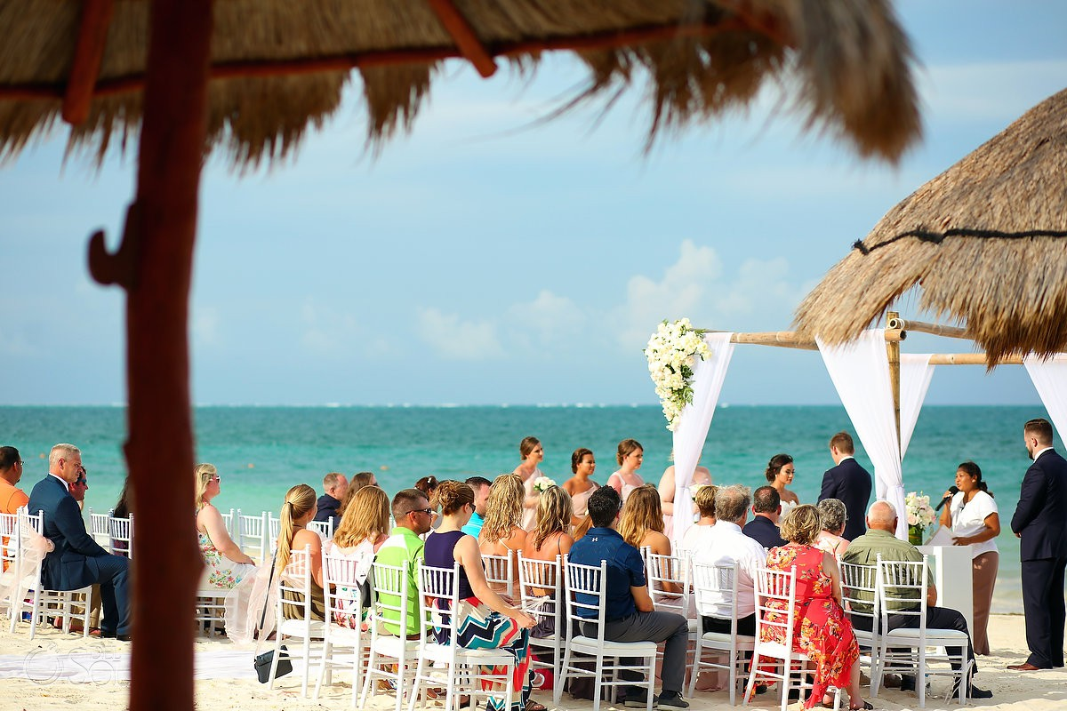 beach wedding Now Sapphire Riviera Cancun Mexico