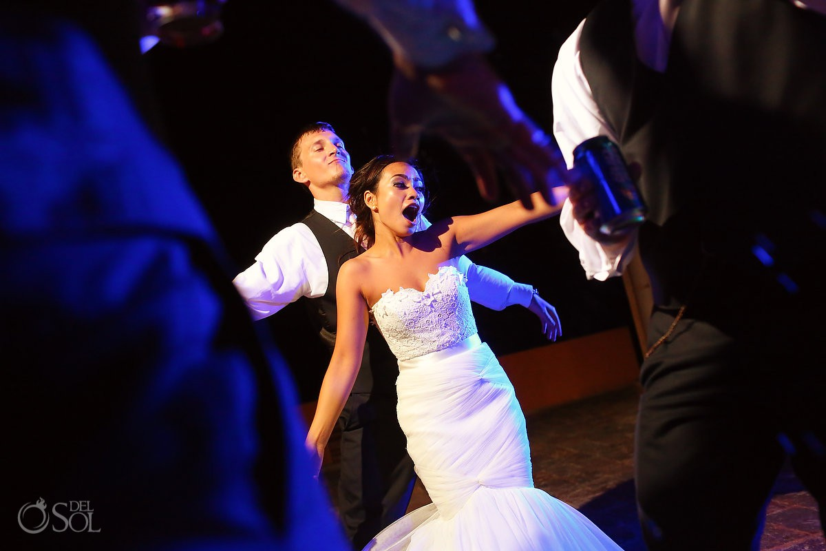 bride and groom dancing destination wedding reception Now Sapphire Riviera Cancun Mexico