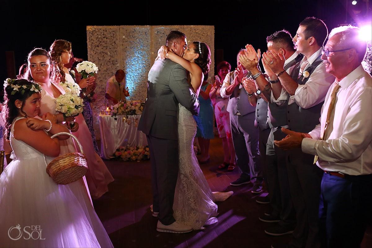 couple entrance destination wedding Reception Gabi club Paradisus Playa del Carmen La Perla Mexico