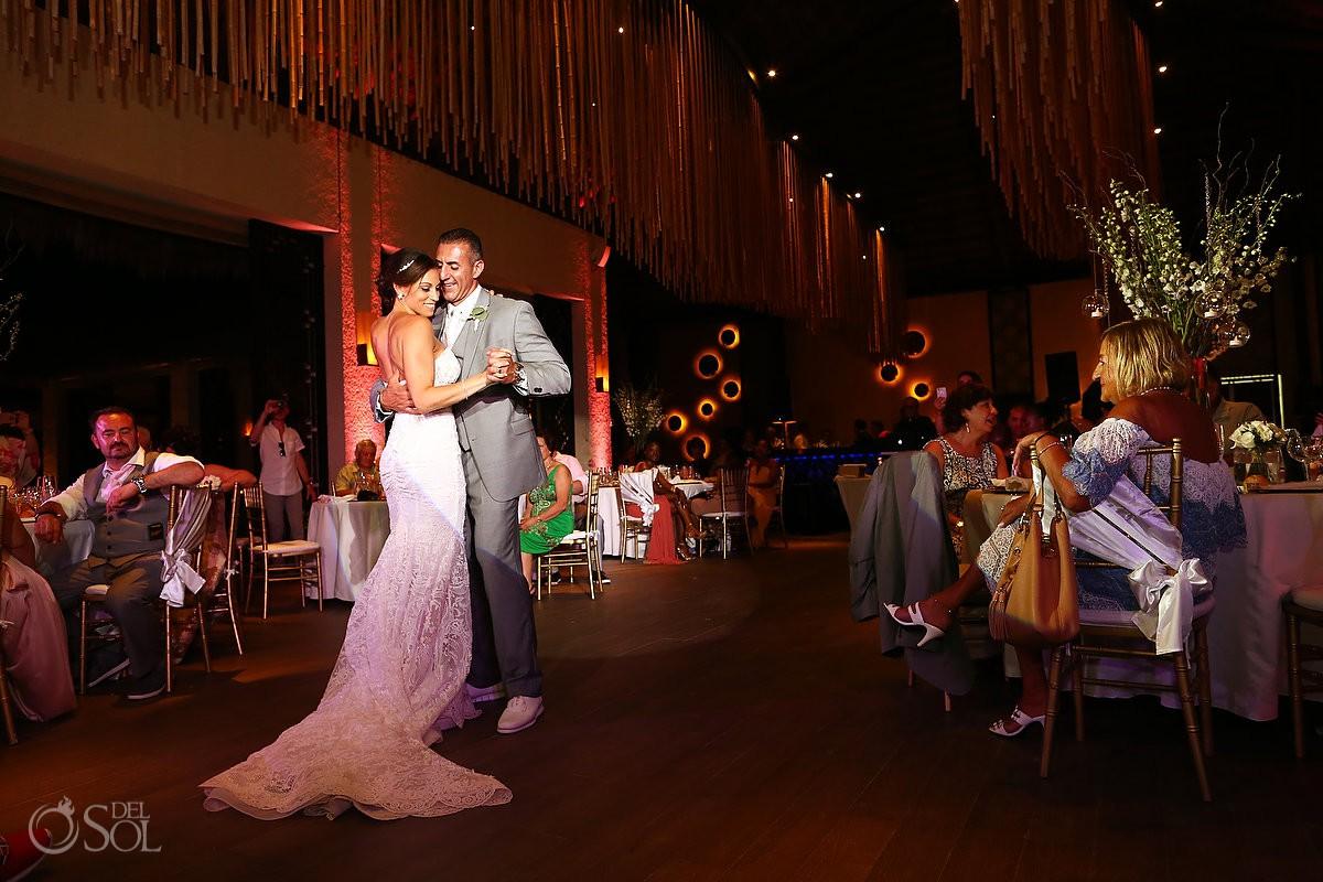 first dance destination wedding Reception Gabi club Paradisus Playa del Carmen La Perla Mexico
