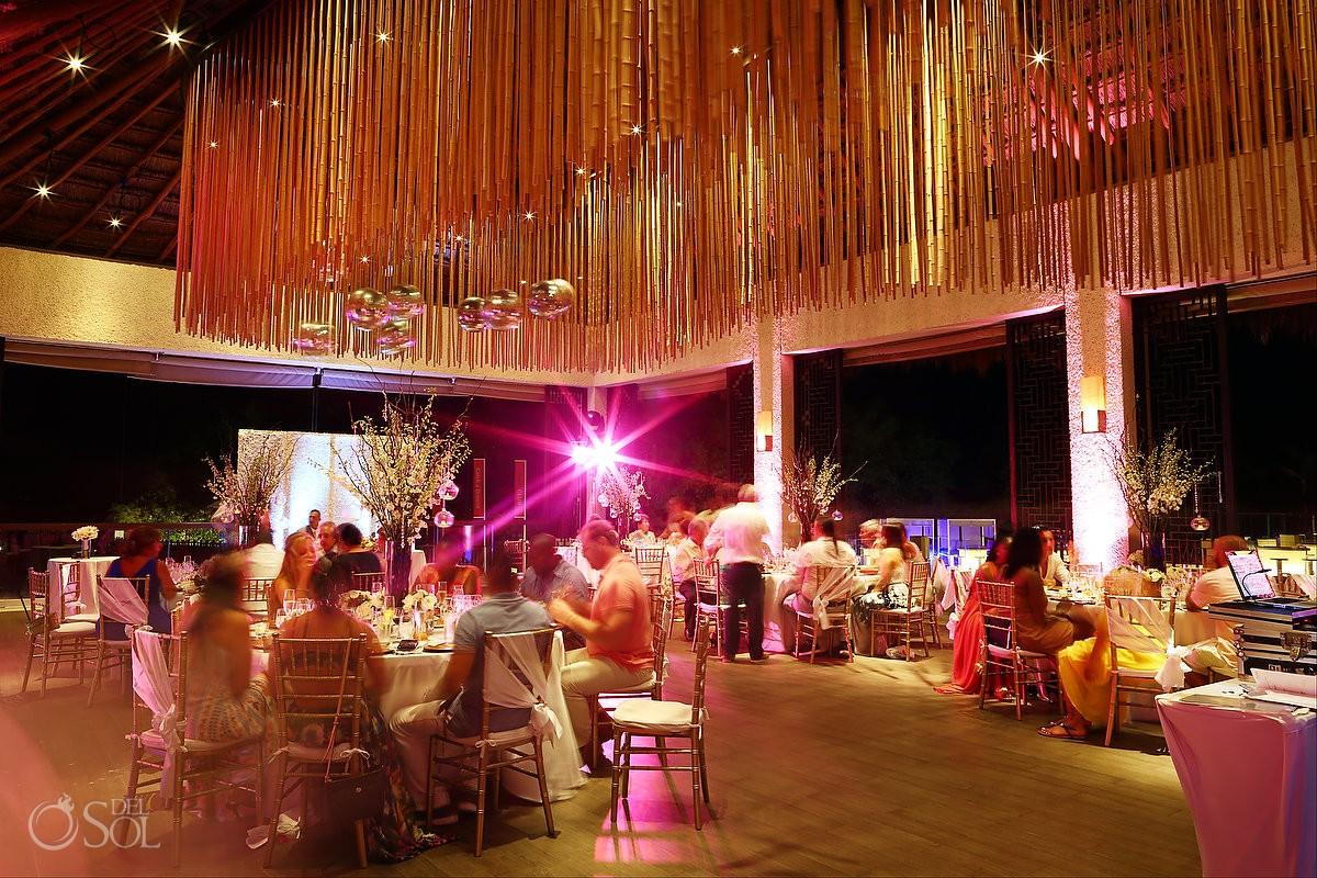 long exposure tripod shot dinner destination wedding Reception Gabi club Paradisus Playa del Carmen La Perla Mexico