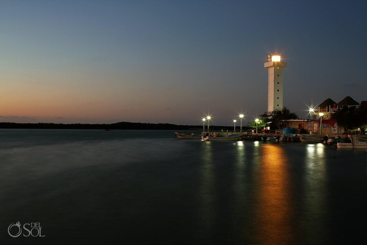 Rio lagartos, Ria lagartos Yucatan Mexico at night Pink Romance dusk